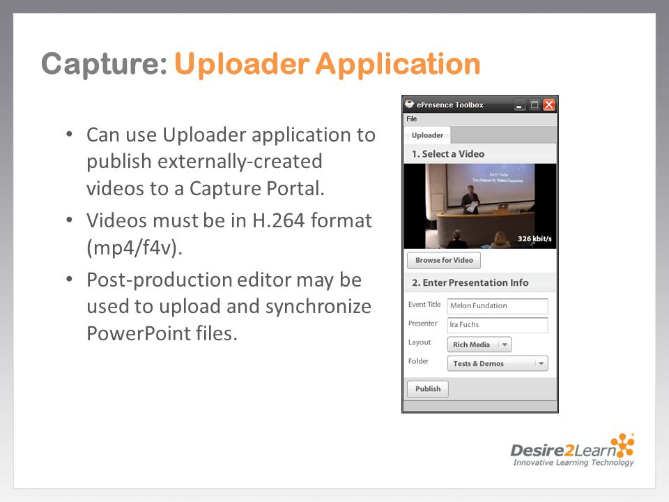 Capture: Uploader Application