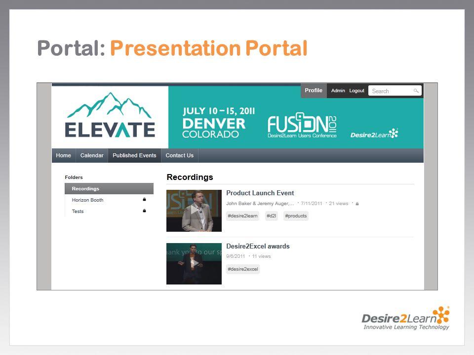 Portal: Presentation Portal