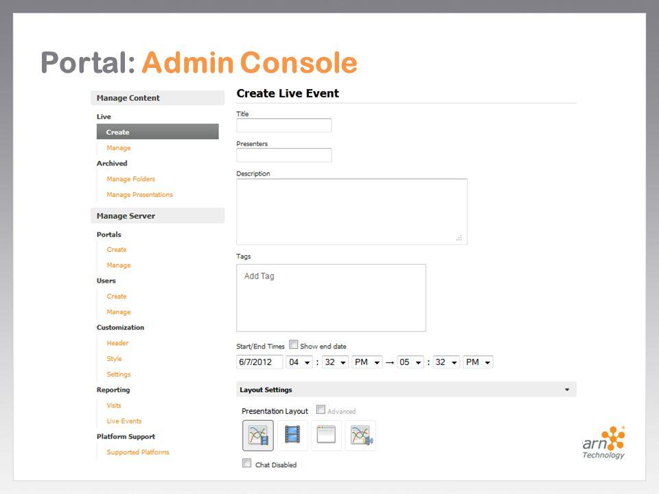 Portal: Admin Console