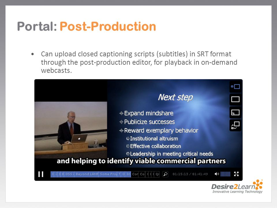 Portal: Post-Production