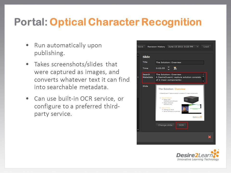 Portal: Optical Character Recognition