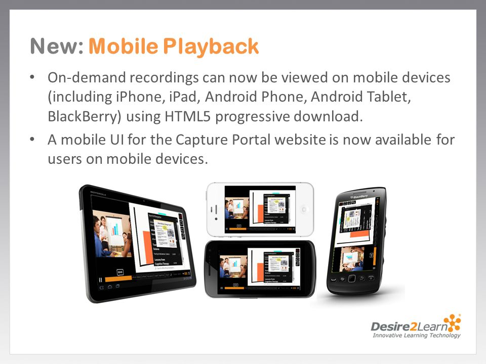 New: Mobile Playback