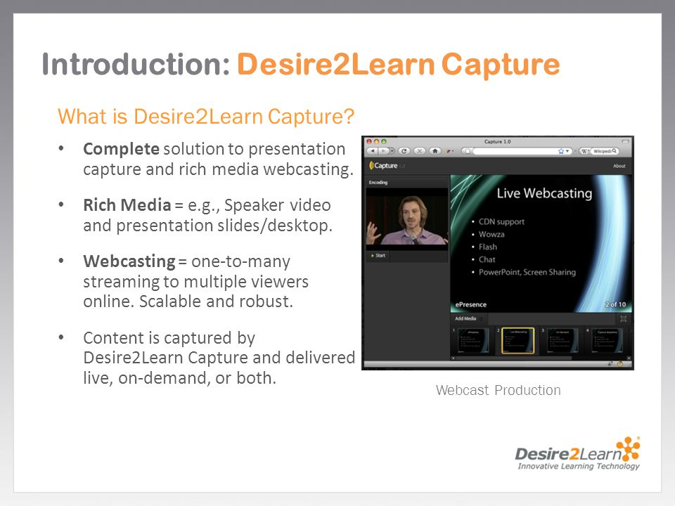 Introduction: Desire2Learn Capture