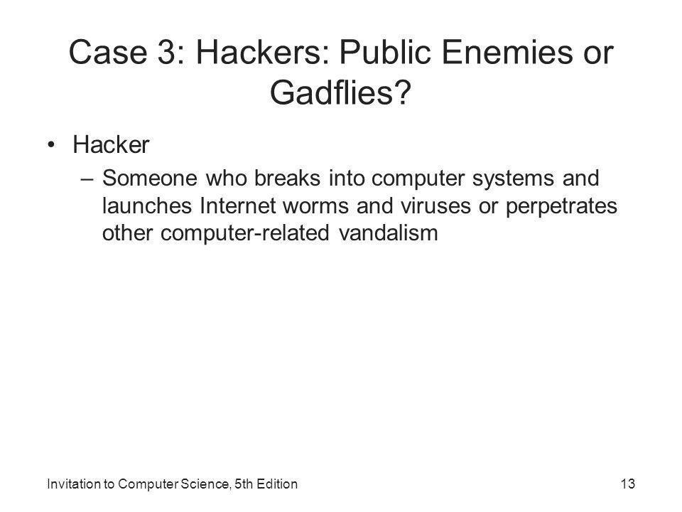 Case 3: Hackers: Public Enemies or Gadflies