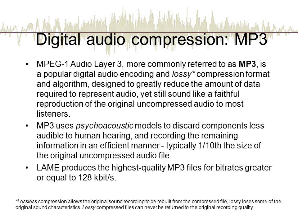 Digital audio compression: MP3
