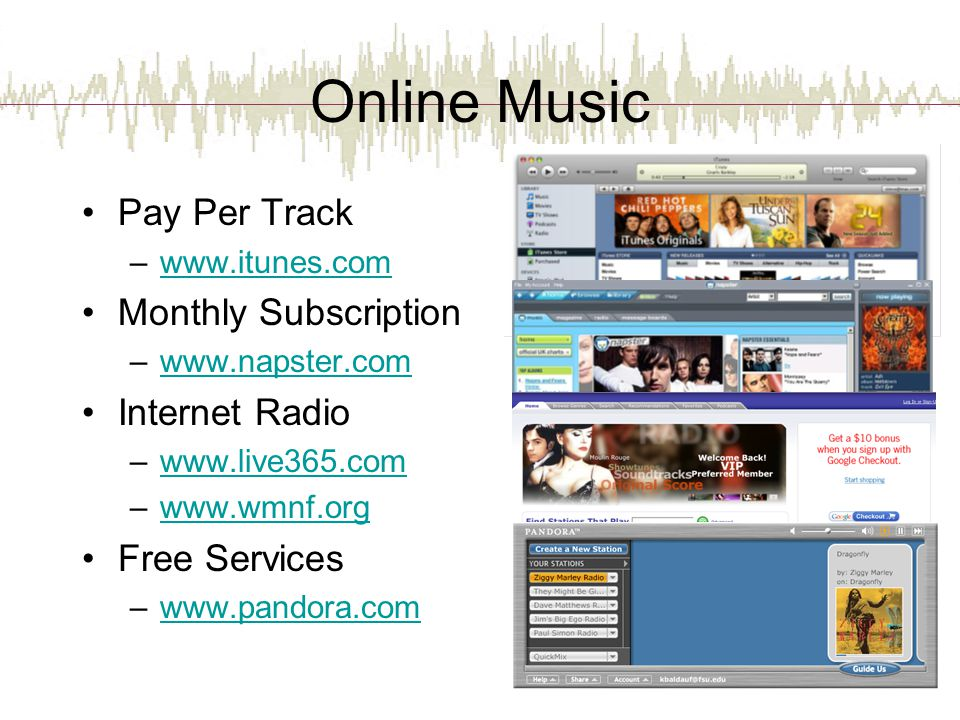 Online Music Pay Per Track Monthly Subscription Internet Radio