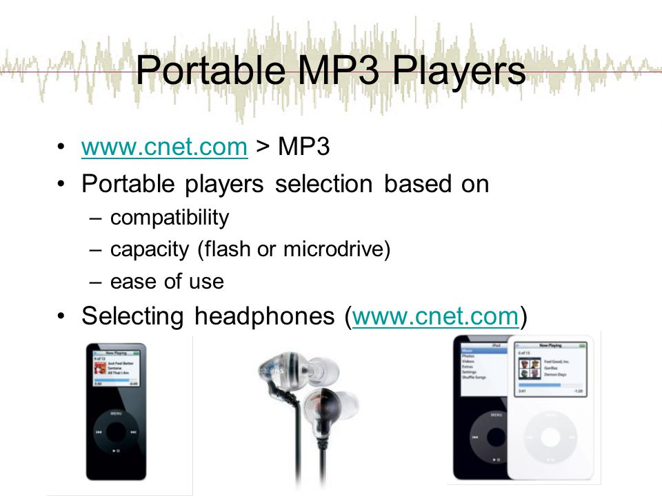 Portable MP3 Players www.cnet.com > MP3