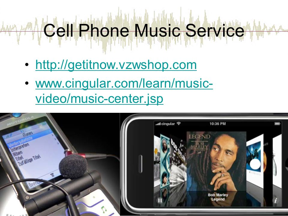 Cell Phone Music Service