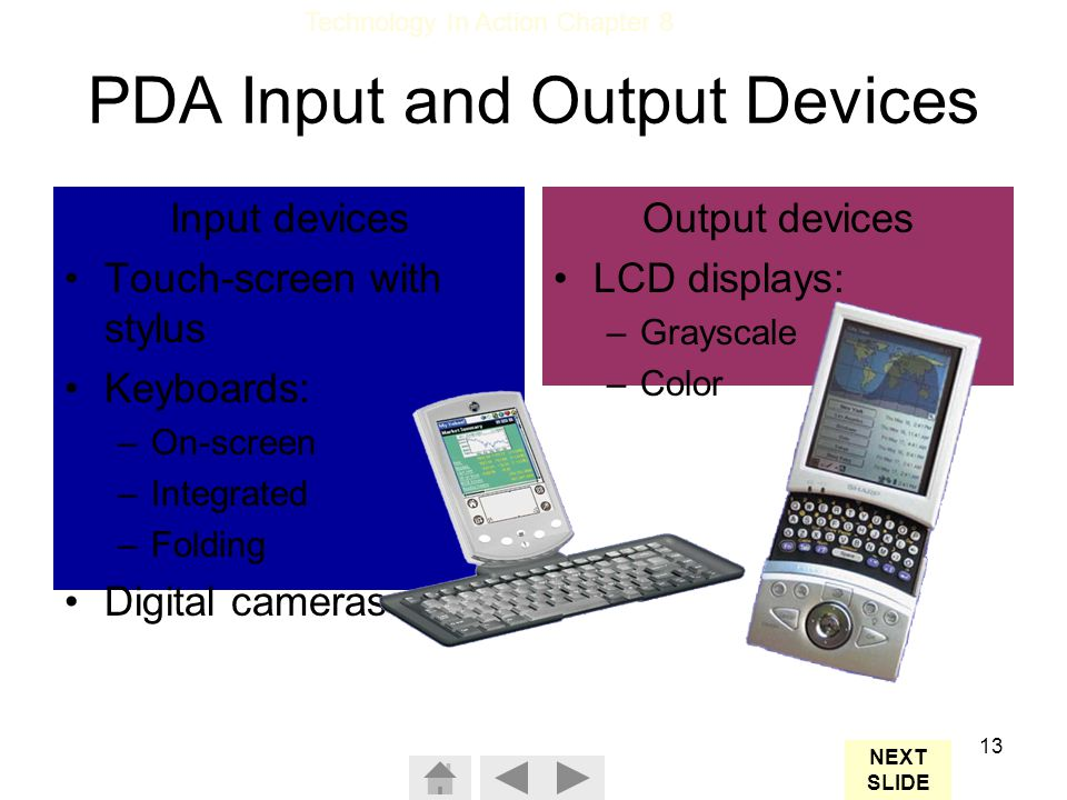 PDA Input and Output Devices