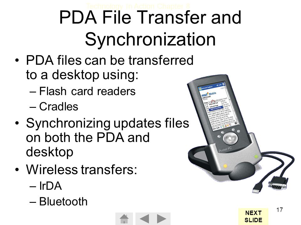 PDA File Transfer and Synchronization