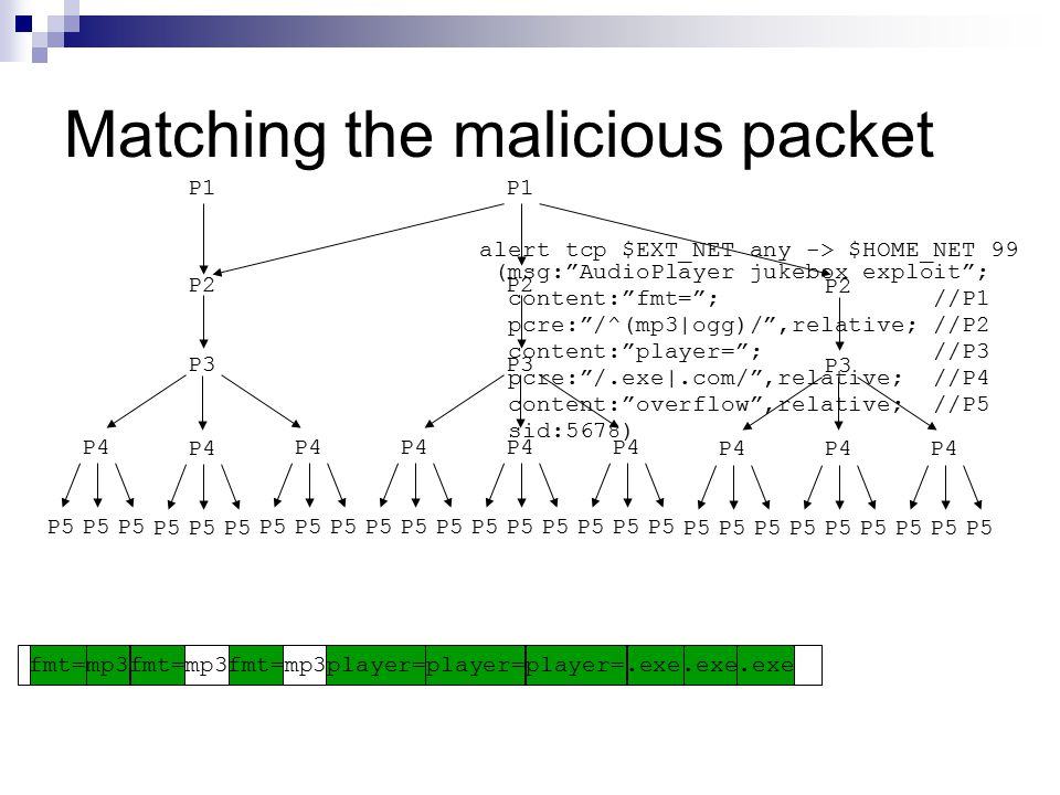 Matching the malicious packet