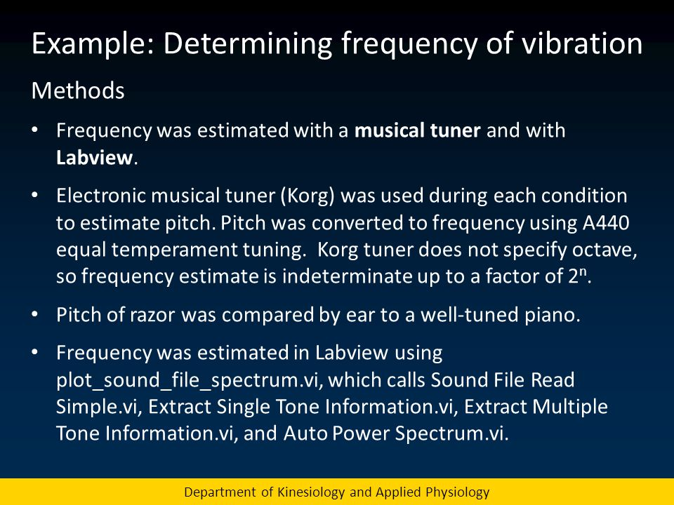 Example: Determining frequency of vibration