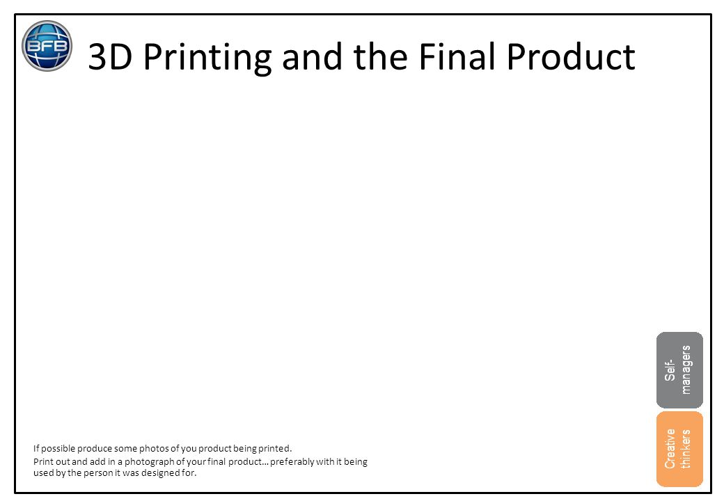 3D Printing and the Final Product