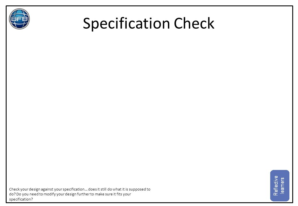 Specification Check