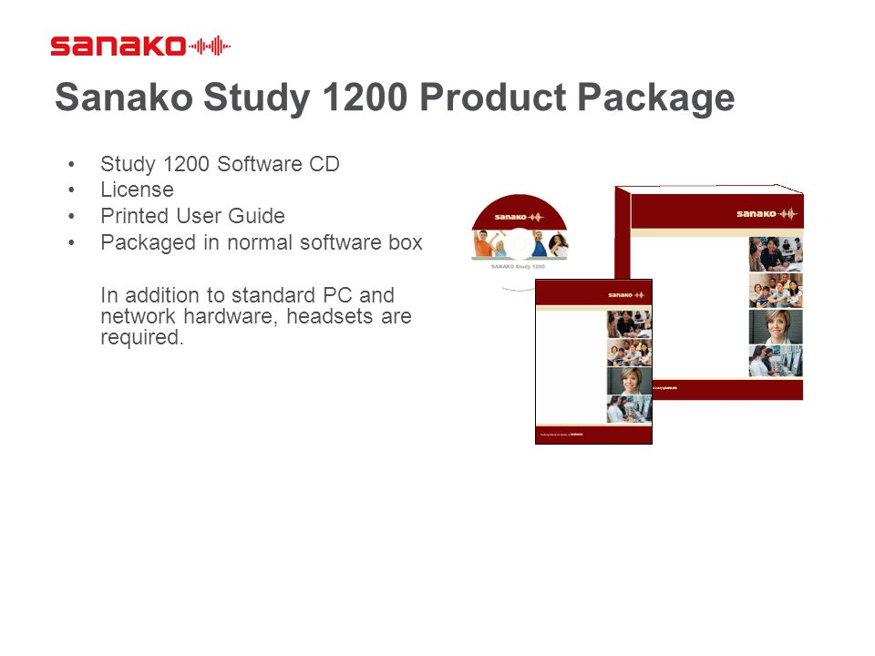 Sanako Study 1200 Product Package