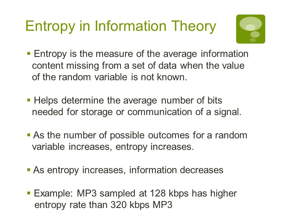 Entropy in Information Theory