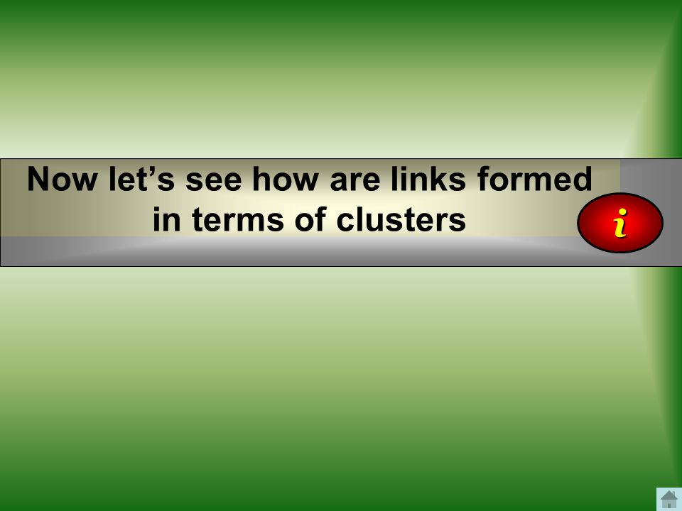 Now let's see how are links formed in terms of clusters