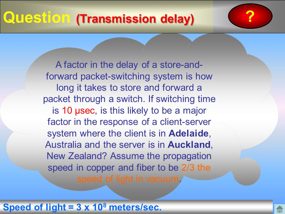 Question (Transmission delay)