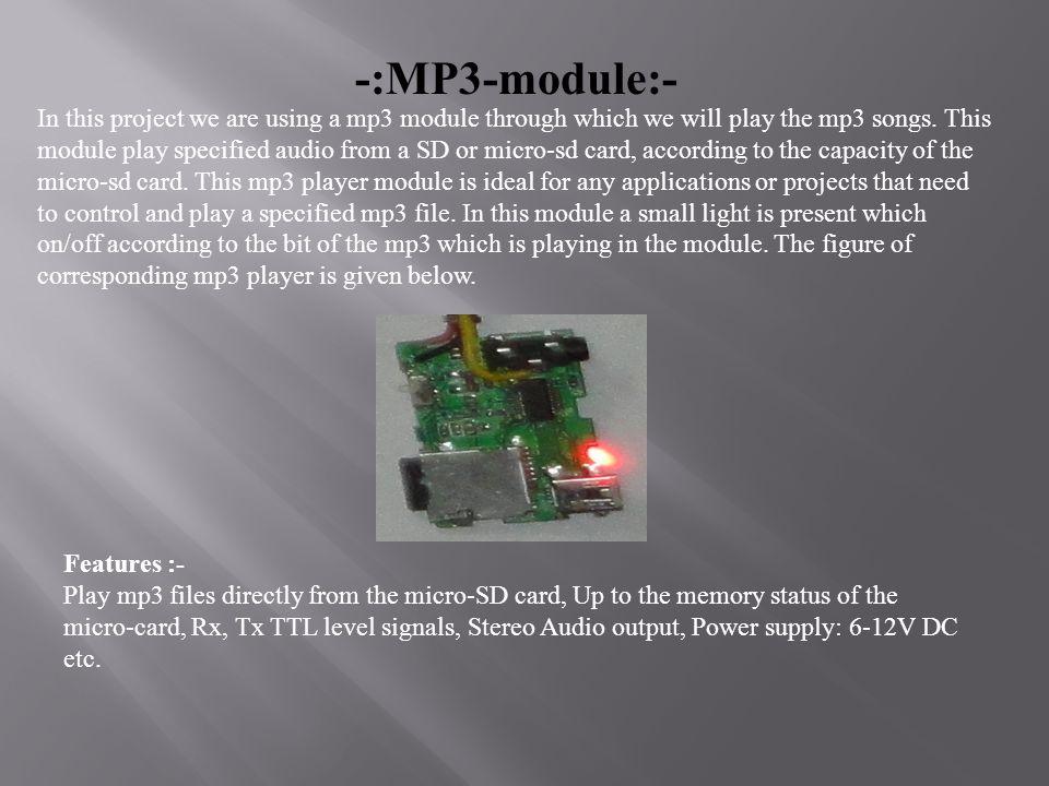 -:MP3-module:-