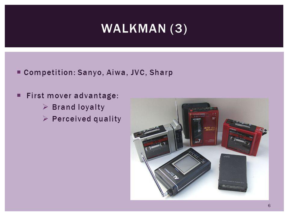 Walkman (3) Competition: Sanyo, Aiwa, JVC, Sharp