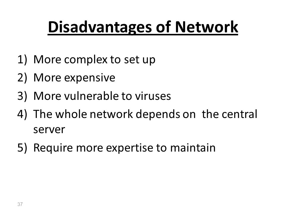 Disadvantages of Network