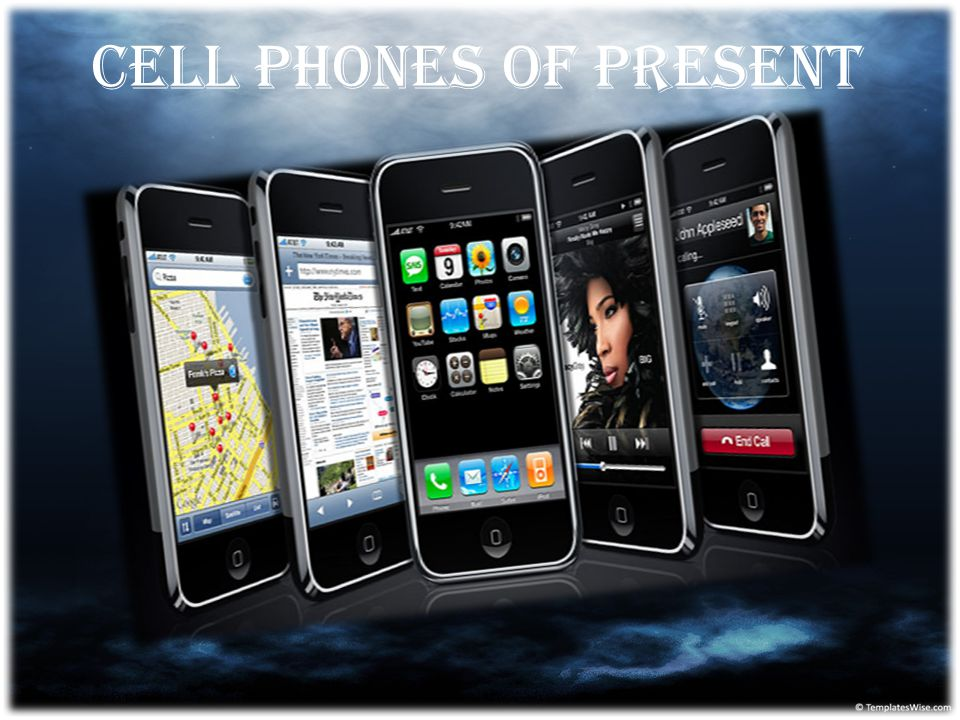 Cell phones of present