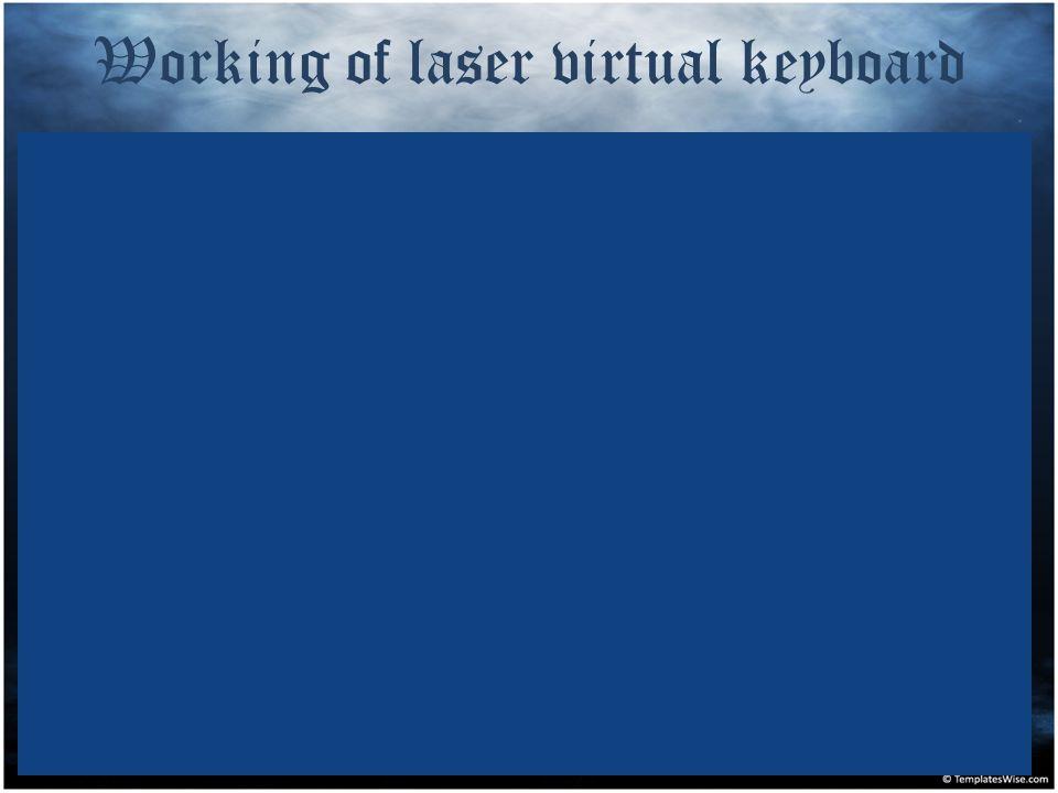 Working of laser virtual keyboard