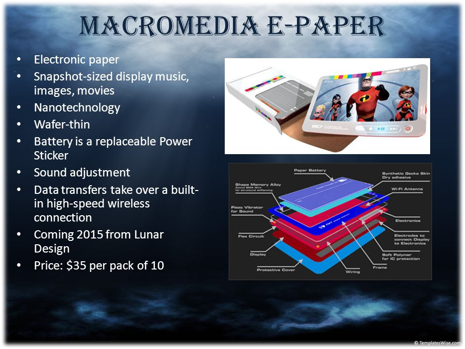 Macromedia E-Paper Electronic paper