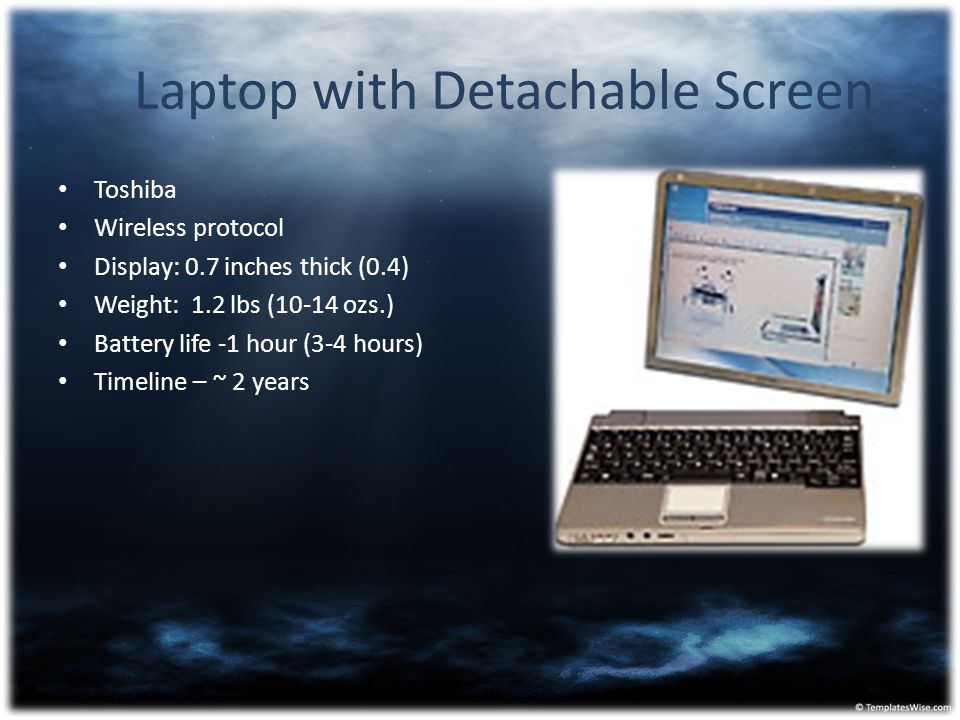 Laptop with Detachable Screen