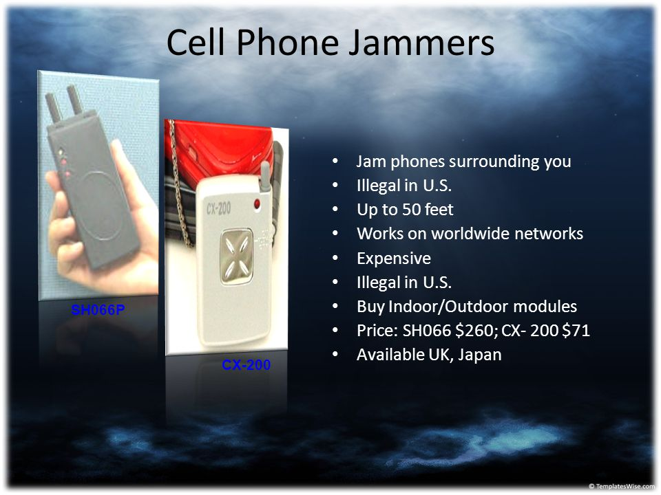 Cell Phone Jammers Jam phones surrounding you Illegal in U.S.