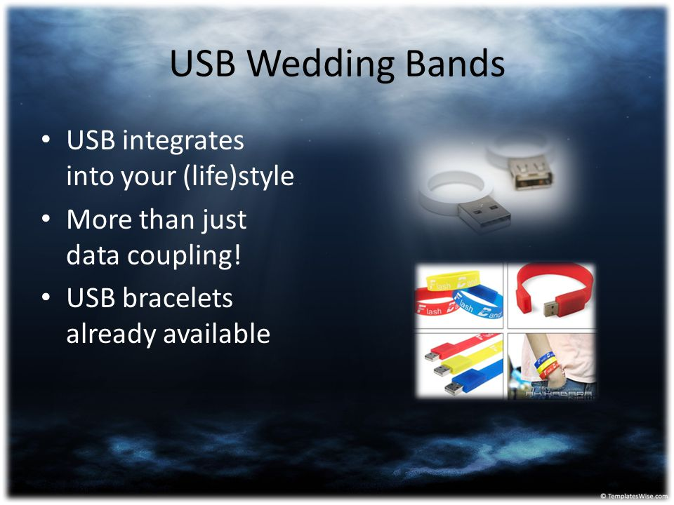 USB Wedding Bands USB integrates into your (life)style