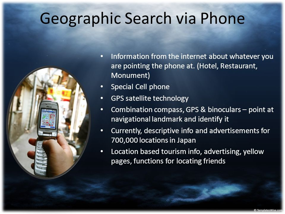 Geographic Search via Phone