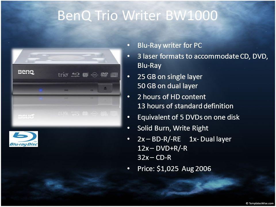BenQ Trio Writer BW1000 Blu-Ray writer for PC