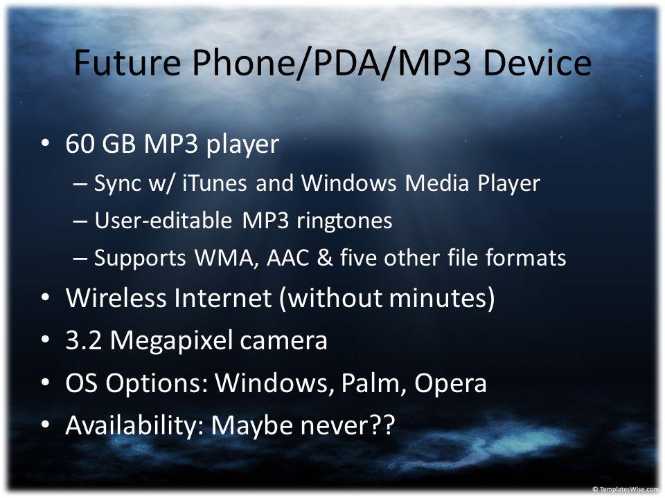Future Phone/PDA/MP3 Device