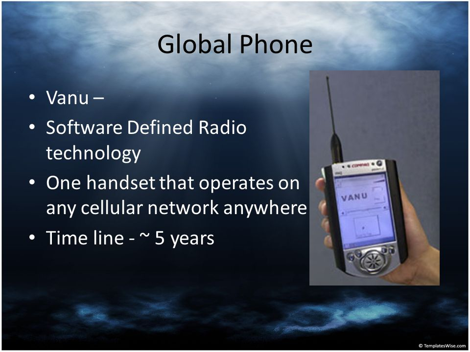 Global Phone Vanu – Software Defined Radio technology