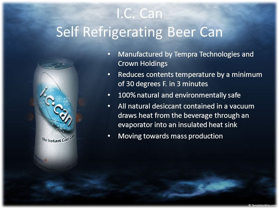 I.C. Can Self Refrigerating Beer Can