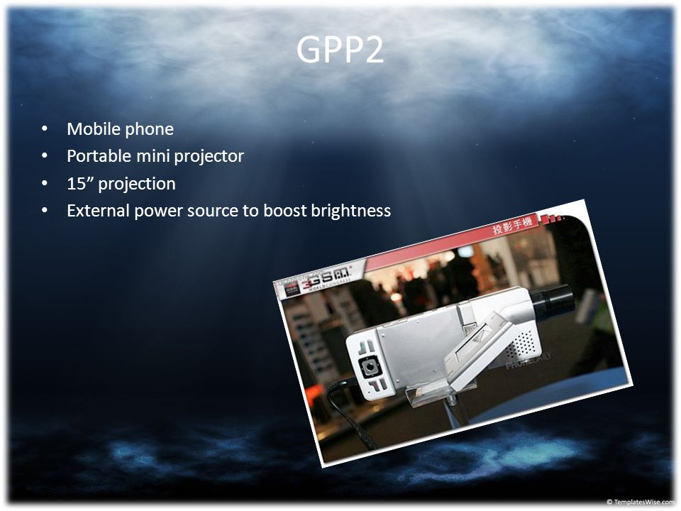 GPP2 Mobile phone Portable mini projector 15 projection