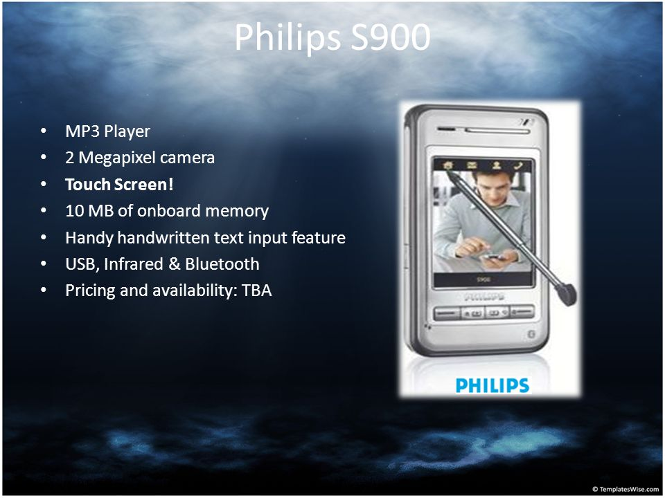Philips S900 MP3 Player 2 Megapixel camera Touch Screen!