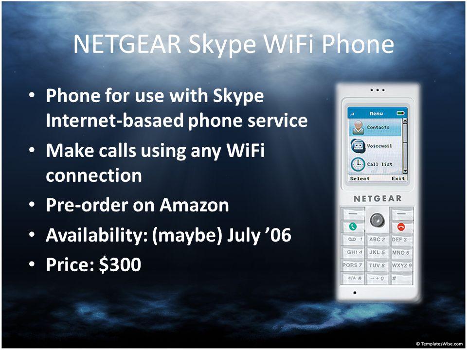 NETGEAR Skype WiFi Phone