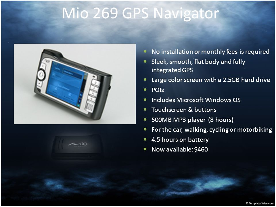 Mio 269 GPS Navigator No installation or monthly fees is required
