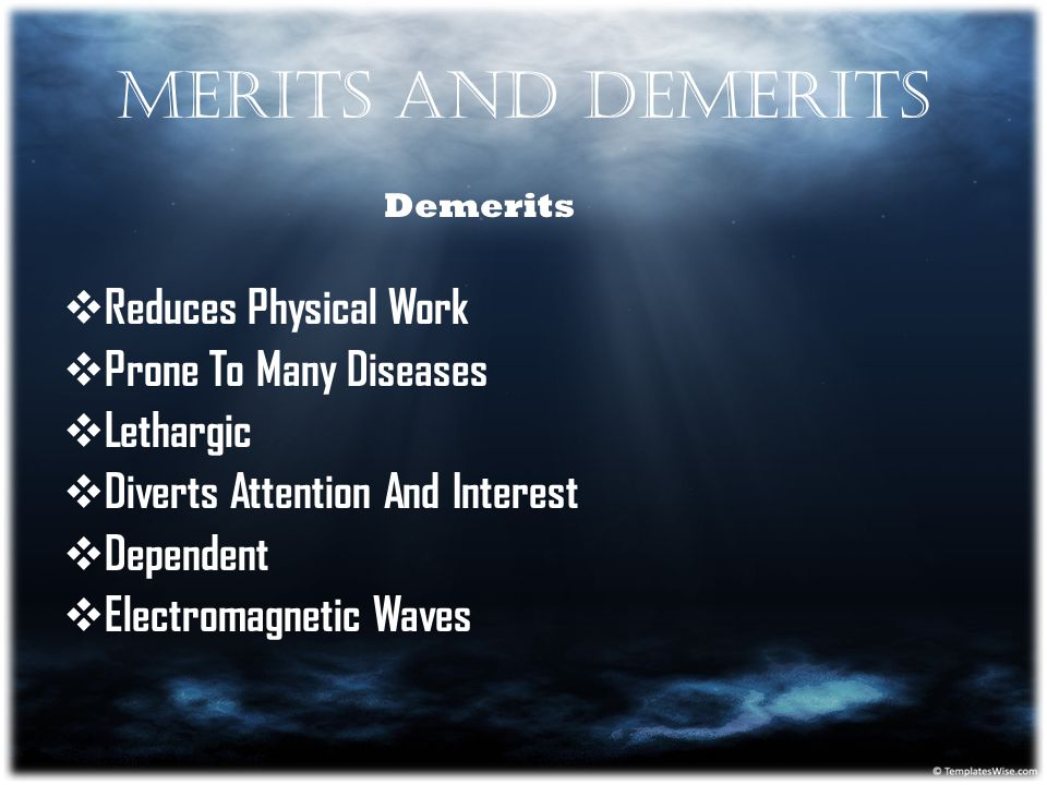 Merits And Demerits Reduces Physical Work Prone To Many Diseases