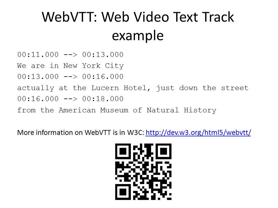 WebVTT: Web Video Text Track example
