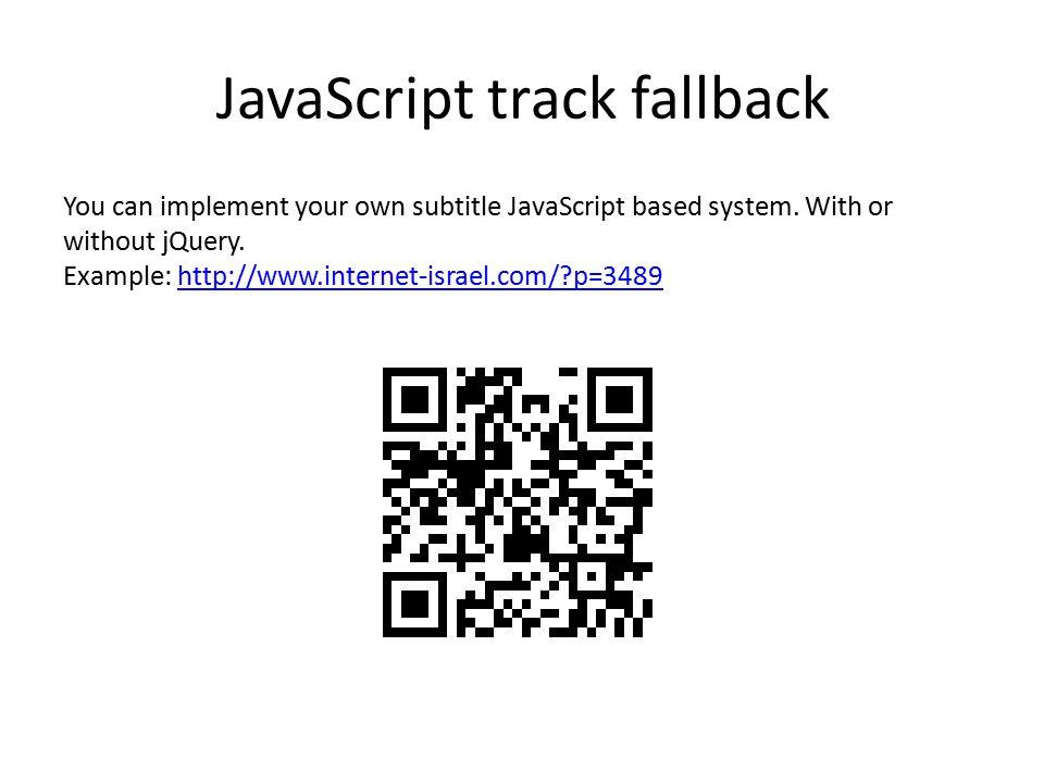 JavaScript track fallback