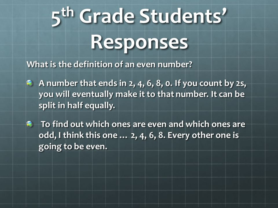 5th Grade Students' Responses