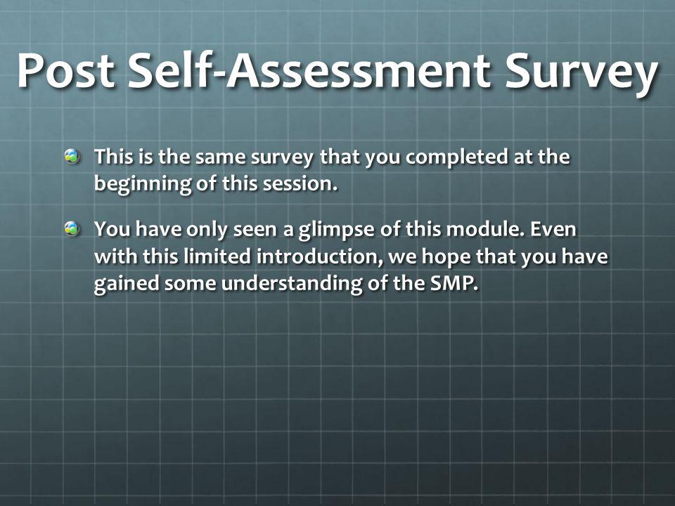 Post Self-Assessment Survey