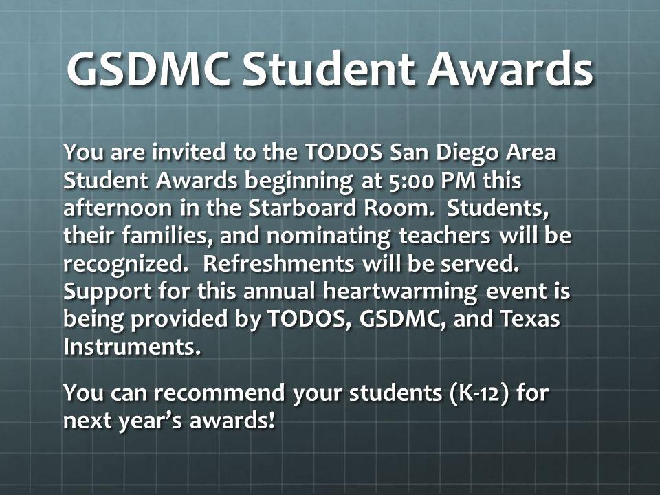 GSDMC Student Awards
