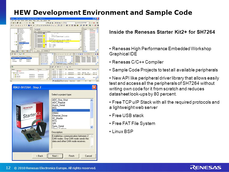 HEW Development Environment and Sample Code
