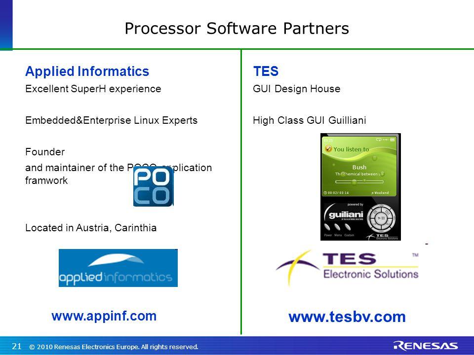 Processor Software Partners