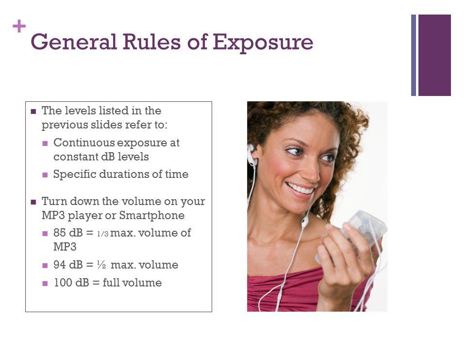 General Rules of Exposure