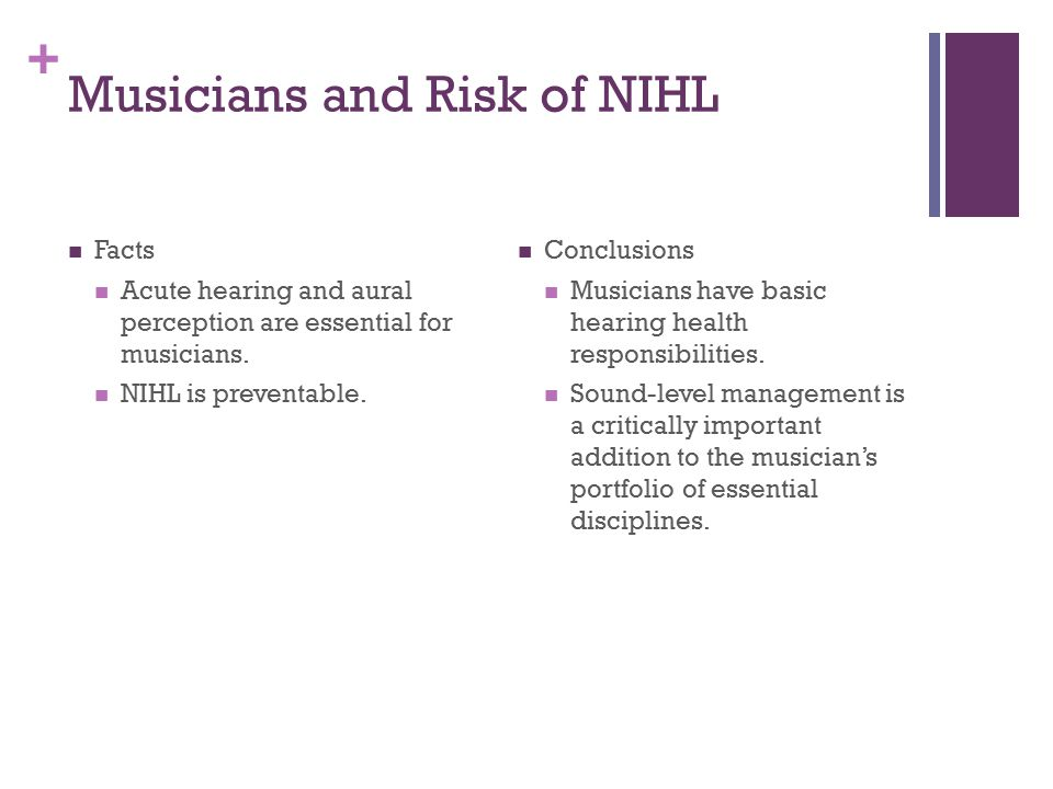 Musicians and Risk of NIHL